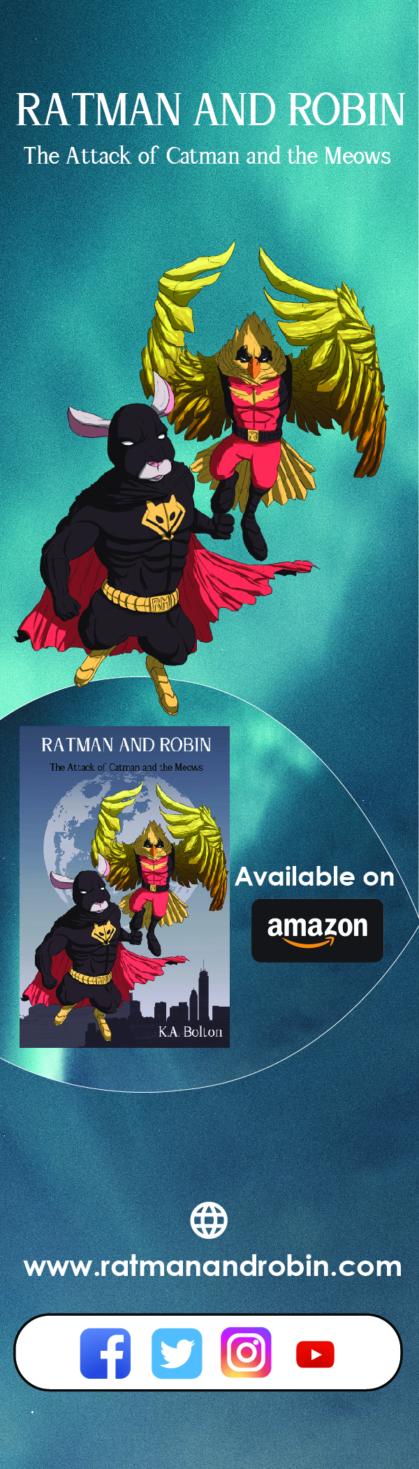 Free ratman and robin Bookmark - Front side