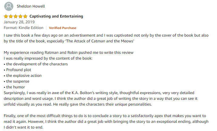 Ratman and robin amazon review - Captivating