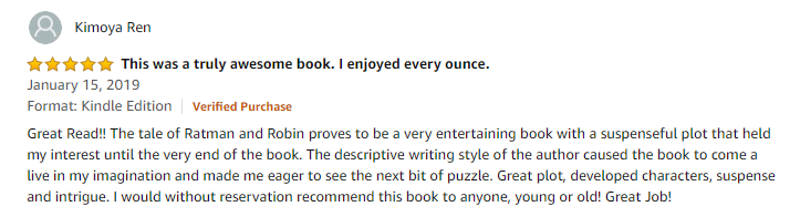Ratman and robin amazon review - enjoyed this book